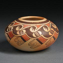Hopi Polychrome Pottery Bowl