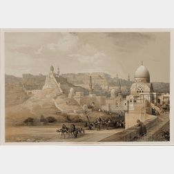 David Roberts (Scottish, 1796-1864), Louis Haghe, lithographer (British, 1806-1885) The Citadel of Cairo, Residence of Mehemet Ali, 184