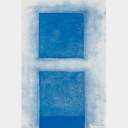 William Scott (British, 1913-1989)      Cobalt Predominates