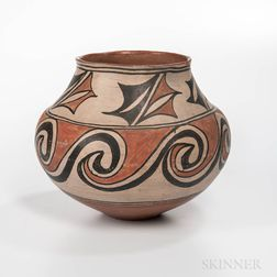 Southwest Polychrome Pottery Olla