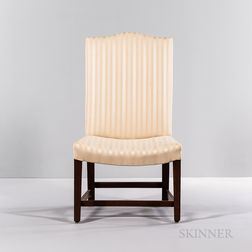 Federal Upholstered Cherry Back Stool