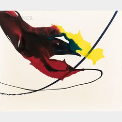 Paul Jenkins (American, 1923-2012)      Phenomena Threading Yellow