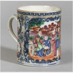 Polychrome Decorated Chinese Export Porcelain Mug