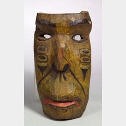 Northwest Carved and Painted Wood Mask