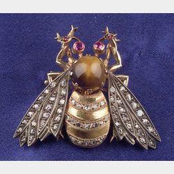 Antique Gem-set Bumblebee Brooch