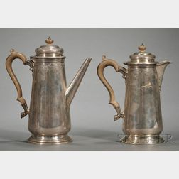 Two George V Silver Pots