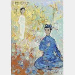 Vu Cao Dam (Vietnamese/French, 1908-2000)      L'Inspiration du Poète