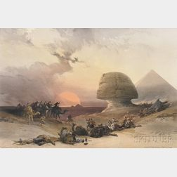 David Roberts (Scottish, 1796-1864), Louis Haghe, lithographer (British, 1806-1885)      Approach of the Simoon - Desert of Gizeh