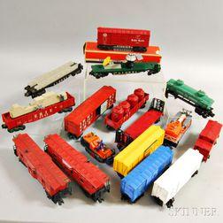 Sixteen Lionel Trains