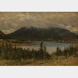 John Joseph Enneking (American, 1841-1916)      Brown Mountain, Somes Sound, S.W. Harbour