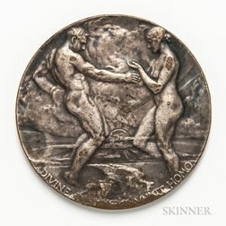 1915 Silvered Bronze Panama-Pacific International Exposition Medal