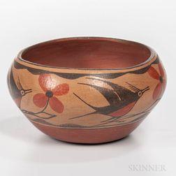 Contemporary Polychrome Zia Bowl
