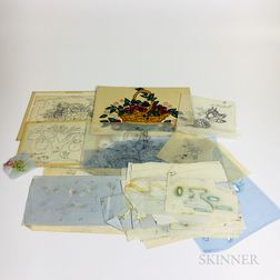 Group of Theorem Stencils and Drawing Materials.     Estimate $300-500