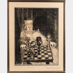 Bernard Reder (American, 1897-1963)      Chess Player