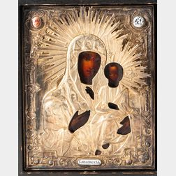 Russian Icon of the Virgin Mother and Child