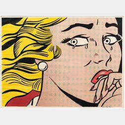 Roy Lichtenstein (American, 1923-1997)      Crying Girl
