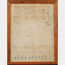 Needlework Family Register Sampler