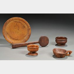 Five Early Woodenware Items