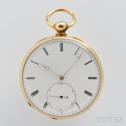 Charles Mollin 18kt Gold Open Face Watch