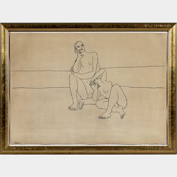 Framed Pablo Picasso Drawing Facsimile