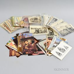Group of Over 100 Vintage Photo Postcards
