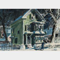 John Whorf (American, 1903-1959)      Winter Night