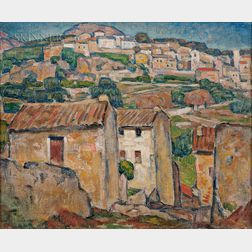 George Herbert Macrum (American, 1878-1970)      Hillside Village, Provence