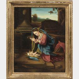 E. Bianchini (Italian, 20th Century), After Correggio      Madonna in adorazione del Correggio
