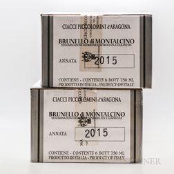Ciacci Piccolomini dAragona Brunello di Montalcino 2015, 12 bottles (2 x oc)