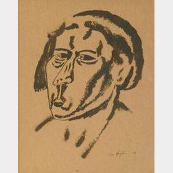 Ben Shahn (Russian/American, 1898-1969)  Portrait Head Study