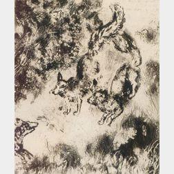 Marc Chagall (Russian/French, 1887-1985)    Le Renard Ayant la Queue Coupée