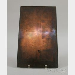 Engraved Copper Printing Plate for a Title on George Washington