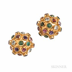 H. Stern 18kt Gold Gem-set Earrings
