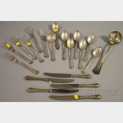 Approximately Nineteen A. Witte .800 Silver Partial Flatware Service