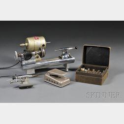 Nickel Finish Watchmaker's Lathe