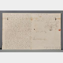 Houston, Samuel (1793-1863)   Autograph and Secretarial Letter Signed, 1 November 1836.