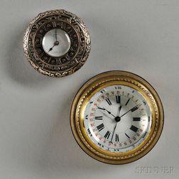 G. Sandoz Demi-hunter Case Watch and E.V.B. Paperweight Clock