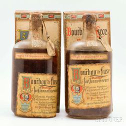 Bourbon de Luxe 18 Summers Old 1916, 2 1-pint bottles (oc)
