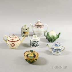 Seven English Creamware and Pearlware Items