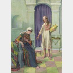 Caleb Arnold Slade (American, 1882-1961)    Biblical Scene
