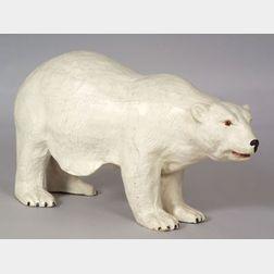 Large Papier Mache Advertising Polar Bear Figure