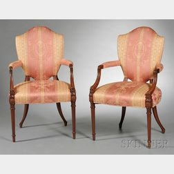 Pair of Louis XVI-style Fauteuils