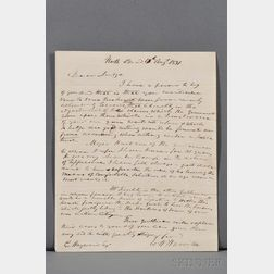 Harrison, William Henry (1773-1841) Autograph Letter Signed, 12 August 1831.