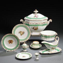 Old Paris Porcelain Partial Dinner Service