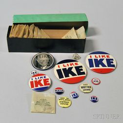 "Small Collection of Mostly Dwight D. Eisenhower/""Ike"" Political Campaign Buttons"