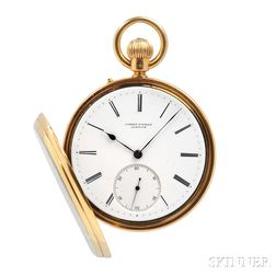 "James Poole 18kt Gold Open Face ""Field Watch,"""