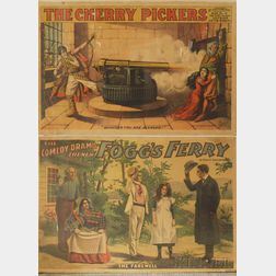 Three Antique Theatrical Posters