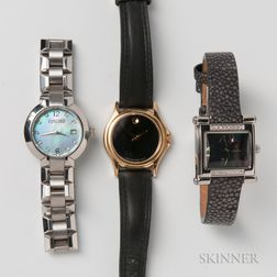 Three Lady's Fashion Watches
