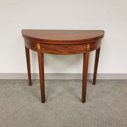 Federal Demilune Card Table
