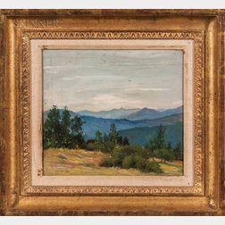 Abbott Handerson Thayer (American, 1849-1921)      Mountain Vista.